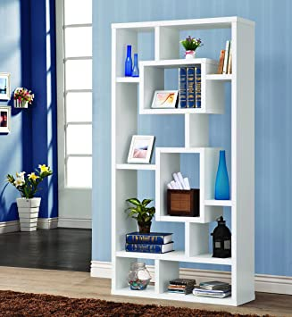 Coaster Home Furnishings Modern Contemporary 10 Shelf Organizer Storage  Bookcase   White. Amazon com  Coaster Home Furnishings Modern Contemporary 10 Shelf