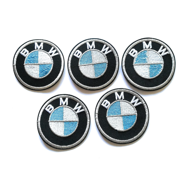 Toppa BMW Set 5Pezzi termoadesiva ricamato TyL
