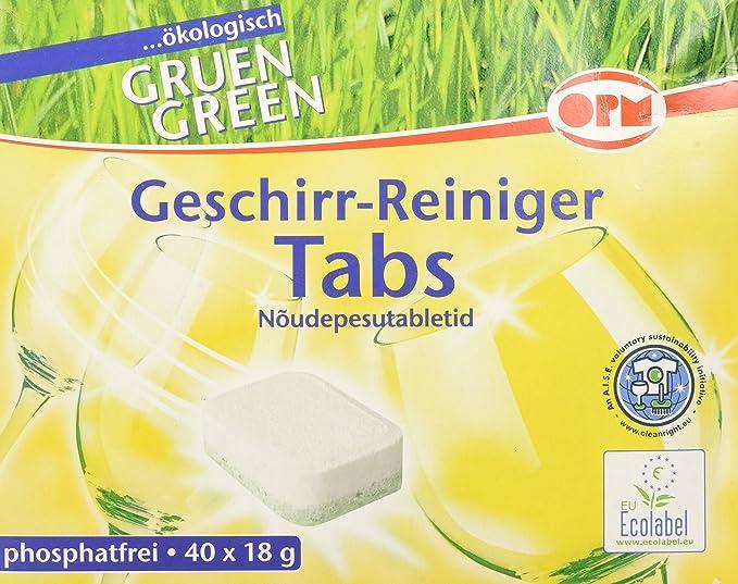Oro - Pastillas ecológicas para lavavajillas (40 x 18 g, 40 ...