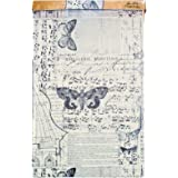 Tim Holtz Idea-ology Melange Tissue Wrap, Decorative Craft Paper, 1-12 Inch Wide Roll, 15 Feet per Roll, TH93042