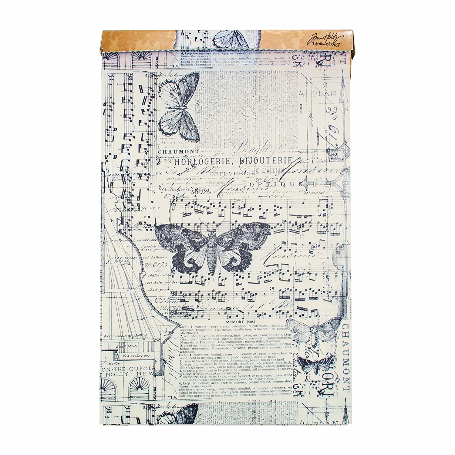 Tim Holtz Idea-ology Melange Tissue Wrap, Decorative Craft Paper, 1- 12 Inch Wide Roll, 15 Feet per Roll, TH93042 Advantus Corp.