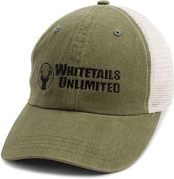 Whitetails Unlimited Men's Hunter Green Mesh Hat