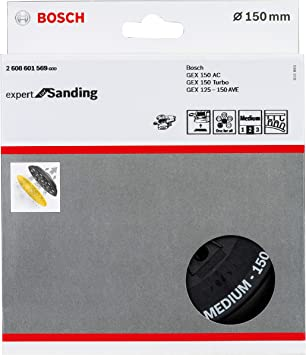 /Ø 150 mm, Blando, Velcro, Accesorios lijadoras exc/éntricas Bosch Professional 2608601336 Plato multiperforado