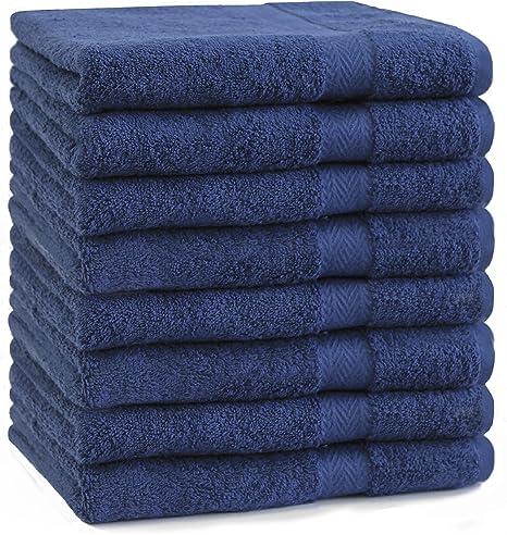 le gymnase et le spa - Usage polyvalent pour le bain le visage blanc, paquet de 4, 41 x 71 cm Par Utopia Towels Grandes essuie-mains en coton la main