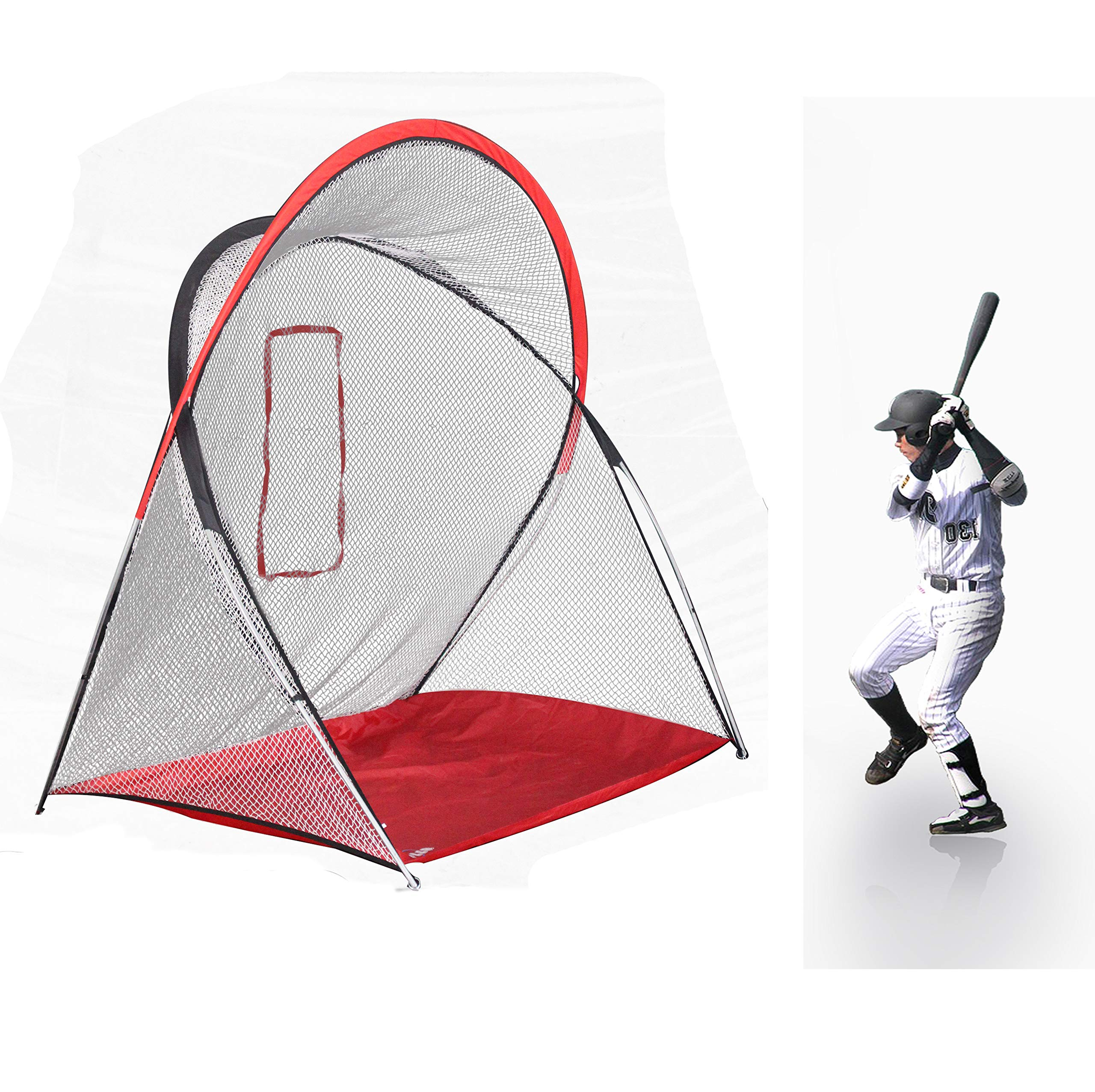 Kapler Baseball Softball Practice Net Practice Hitting Pitching Baseball Batting net Practice Driving net 220cm(L) x140cm(W) x210cm(H) by Kapler