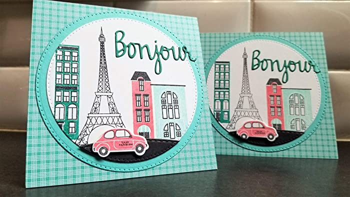 Amazon.com: Bonjour Greeting Card, Merci Thank You Card ...