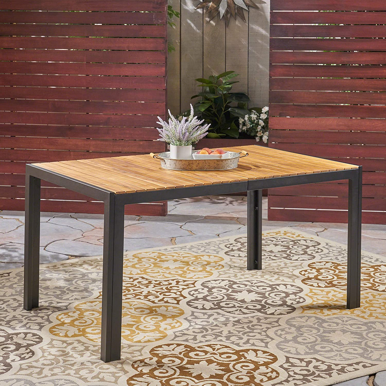 Amazon.com: Great Deal Furniture Tamia - Mesa de comedor de ...
