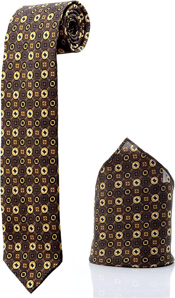 Corbata y funda castañas, diseño retro (hombre disfraz boda tarde ...