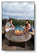 Elegance Oriflamme Outdoor Fire Pits and Fire Pit Tables