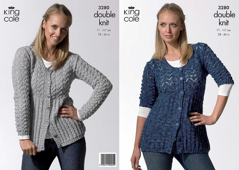 King Cole Ladies Cardigans Knitting Pattern 3280: Amazon.co.uk ...