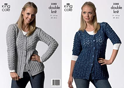 db91c27b4 Image Unavailable. Image not available for. Colour  King Cole Ladies  Cardigans Knitting Pattern 3280