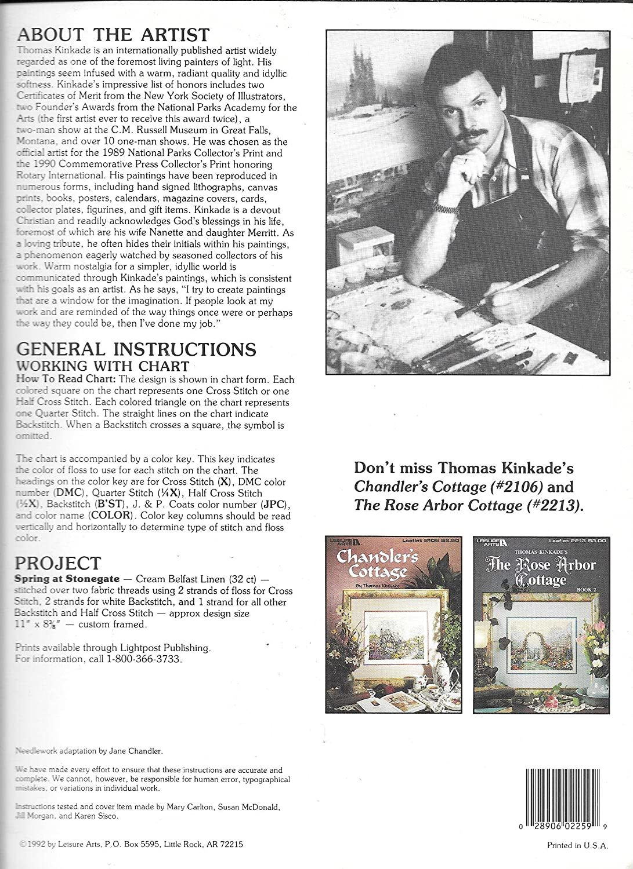 Amazon.com: Thomas Kinkades Spring at Stonegate Leaflet 2259: Arts, Crafts & Sewing