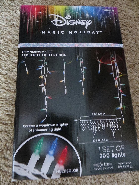 Amazon.com : Disney LightShow 200-Count Shimmering Multicolor Mini ...