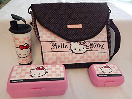 Image Unavailable. Image not available for. Color  Tupperware Hello Kitty  Pink Lunch Bag ... f334df3d76758