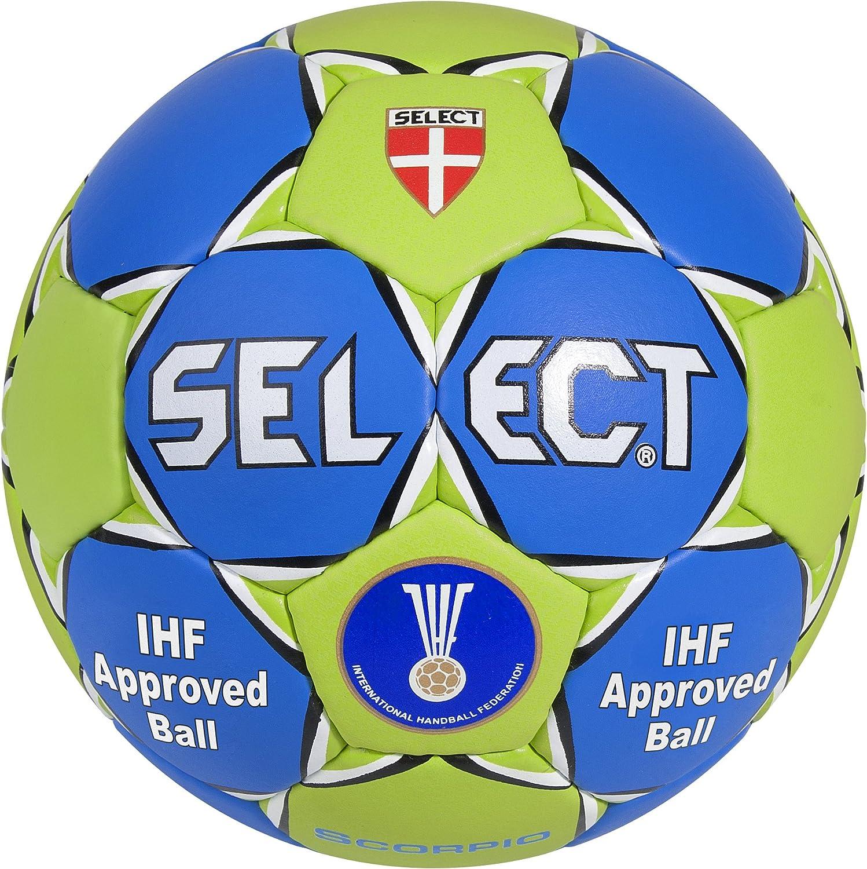 Select Scorpio SE3803 - Balón de Balonmano, Color Rojo/Azul/Blanco