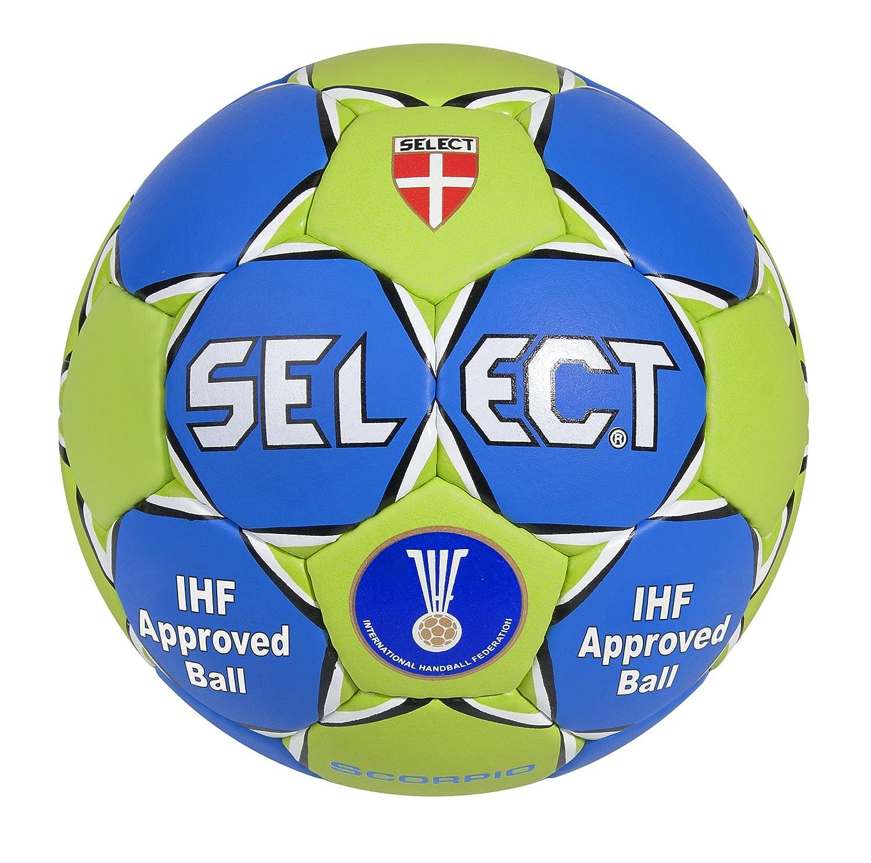TALLA 2. Select Scorpio SE3803 - Balón de Balonmano, Color Rojo/Azul/Blanco