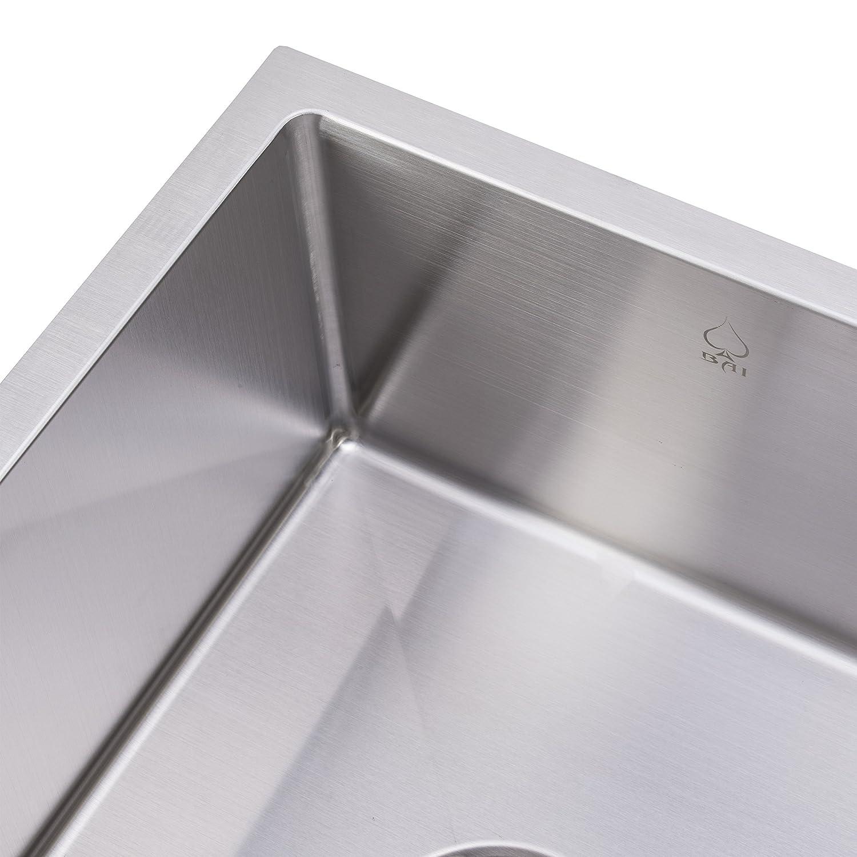 bai 1231 33 handmade stainless steel kitchen sink single bowl