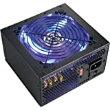Shark Technology LED Series 600W Quiet 120mm Blue LED Fan 24pin ATX AMD/Intel Haswell PC Power Supply Unit  Retail Box with 5 Feet AC Cord and 4x Black Installation Screws.