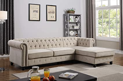 Amazon.com: Best Master Furniture YS001 Venice 2 Piece Sectional ...