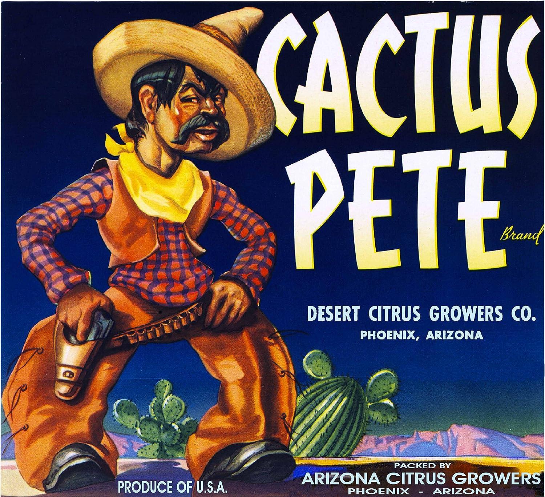 Peoria Arizona Ariz-Sweet Grapefruit Citrus Fruit Crate Label Vintage Art Print