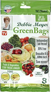 Debbie Meyer GreenBags Freshness-Preserving Food/Flower Storage Bags Extra Large 8  sc 1 st  Amazon.com & Amazon.com: Debbie Meyer 32 Piece UltraLite GreenBoxes - Green ...