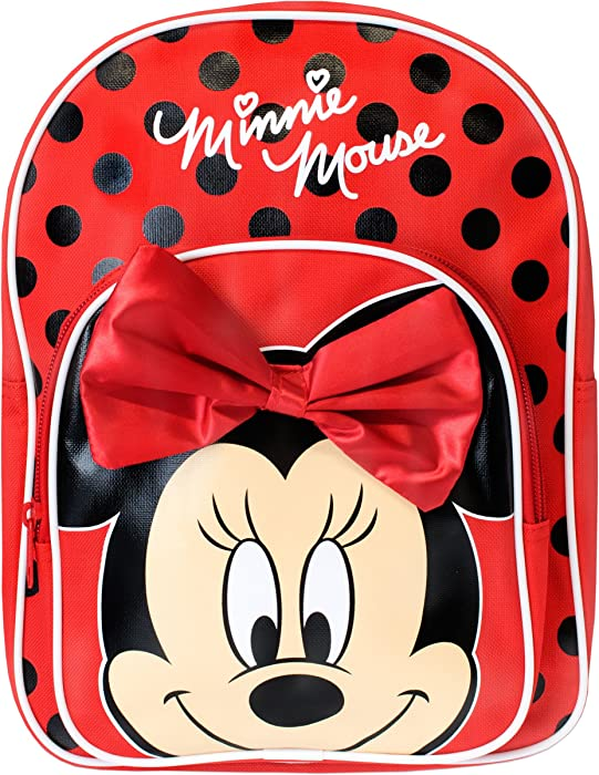 4cb83b914b9 Amazon.com  Disney Minnie Mouse Girls Minnie Mouse Backpack With Bow ...