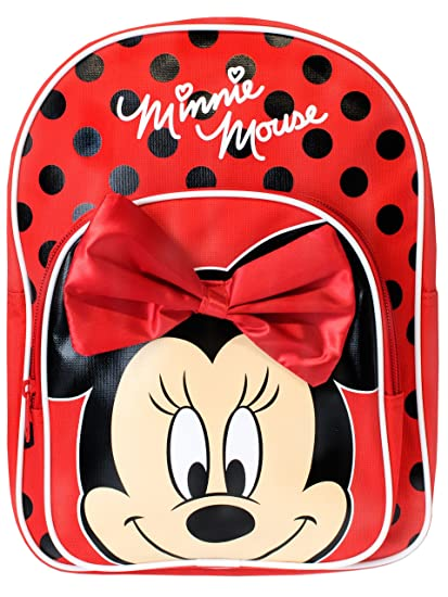 Disney Girls Minnie Mouse Backpack With Bow  Amazon.co.uk  Luggage d692c24eb2c2e
