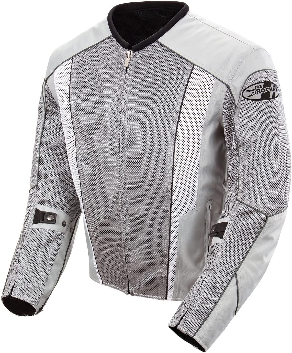 Joe Rocket 851-4504Phoenix 5.0 Men's Mesh Motorcycle Riding Jacket (Silver/Silver, Large)