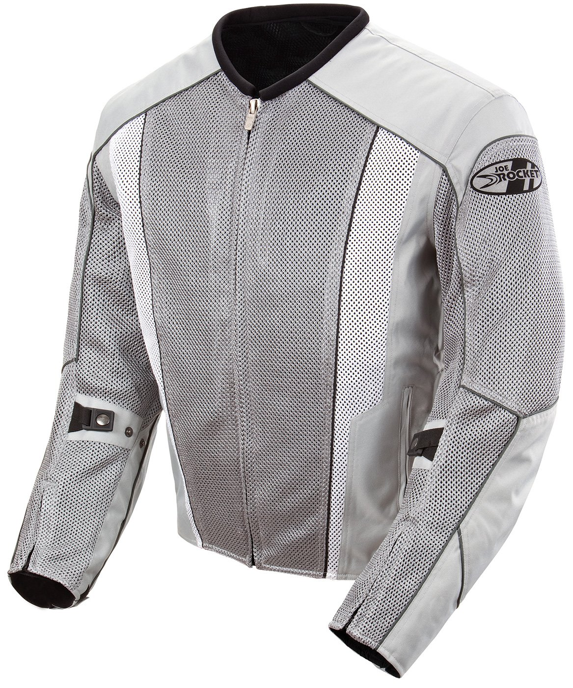 Joe Rocket Phoenix 5.0 Men's Mesh Motorcycle Riding Jacket (Silver/Silver, Medium)