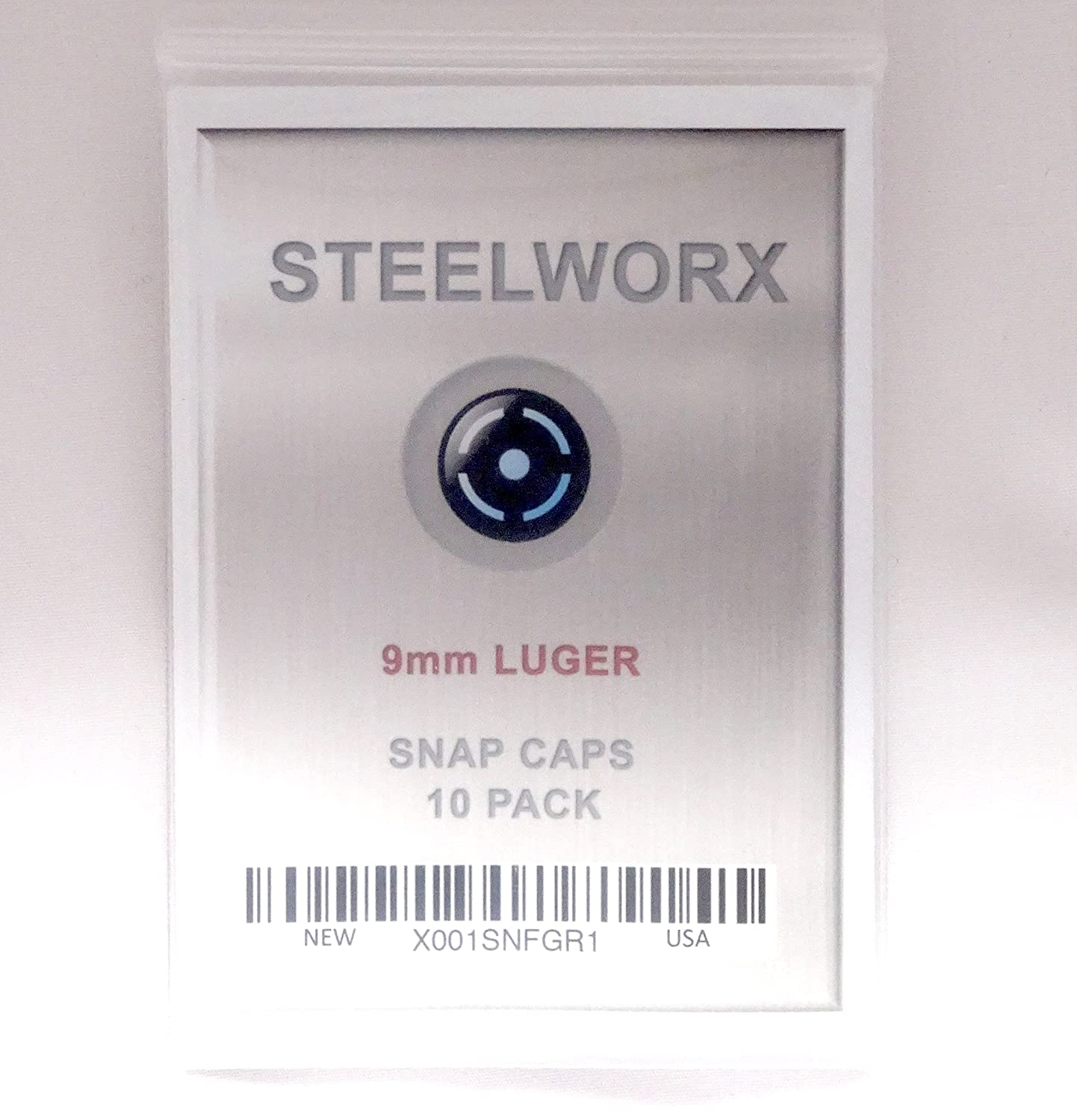 Amazon.com: Steelworx 9 mm. Luger acero inoxidable Snap Caps ...