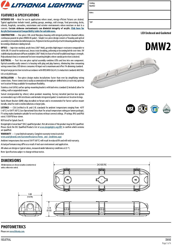 Lithonia Lighting DMW2 L24 4000LM AFL MD 120 GZ10 35K 80CRI PS1050
