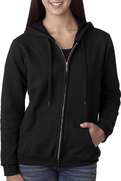 396fbbdcd9efc Amazon.com  Gildan Women s Full Zip Hooded Sweatshirt  Clothing