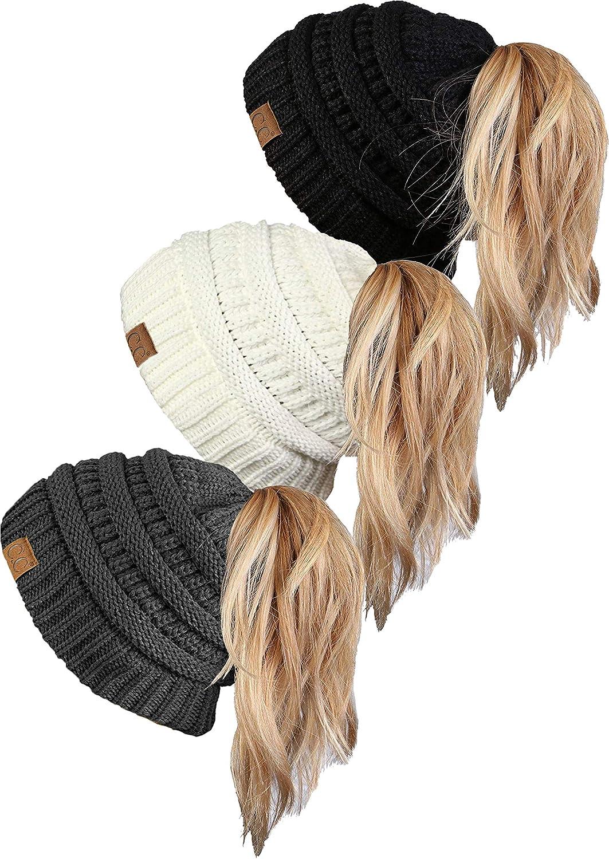 『5年保証』 Funky Junque HAT - レディース & B07MFZR3MR & 3 Pack - Black, Ivory & Charcoal 3 Pack - Black, Ivory & Charcoal, GreenLabel:49990c9d --- arianechie.dominiotemporario.com