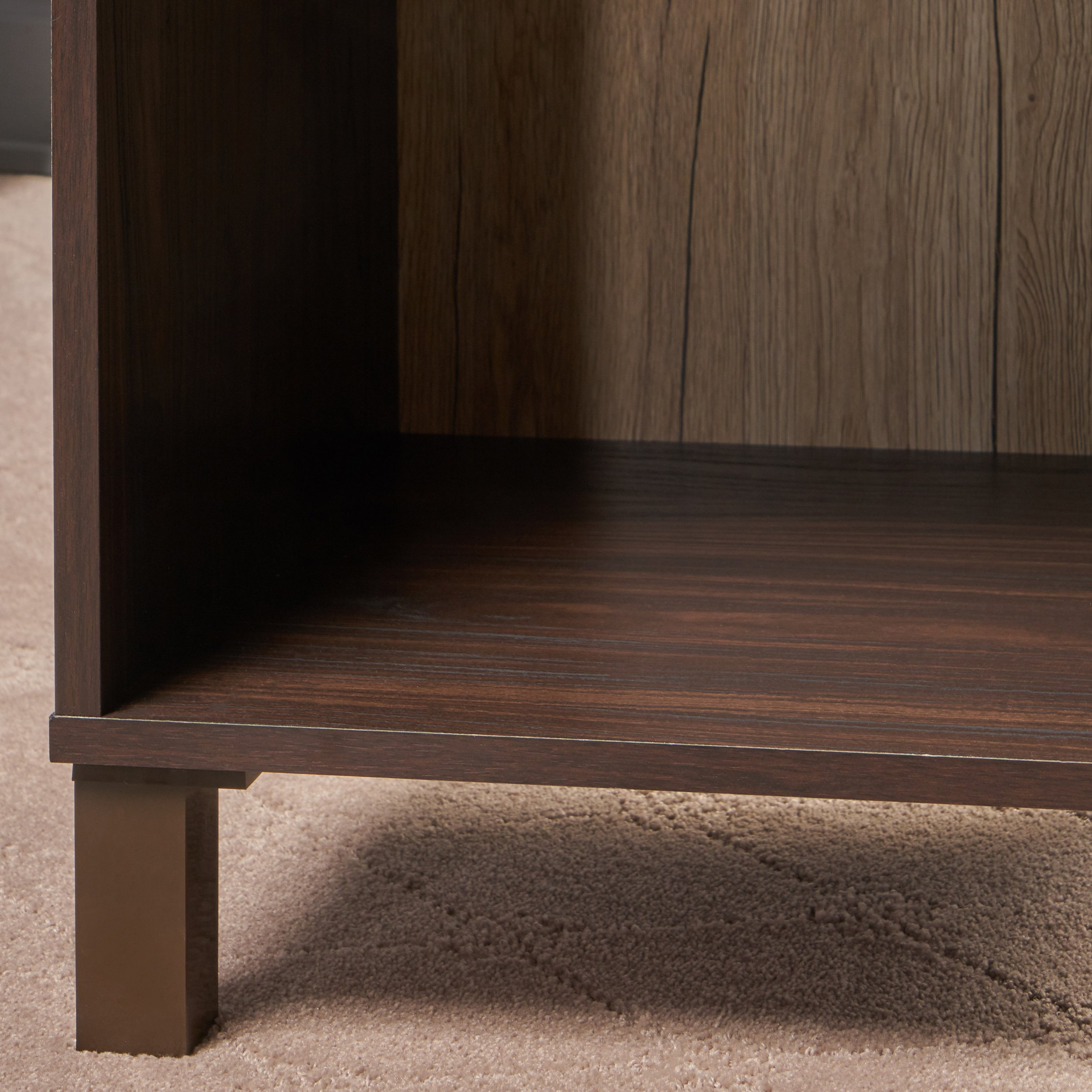 Christopher Knight Home 303655 Linnea Wood Cabinet, Walnut/Sanremo Oak/Brown by Christopher Knight Home (Image #4)