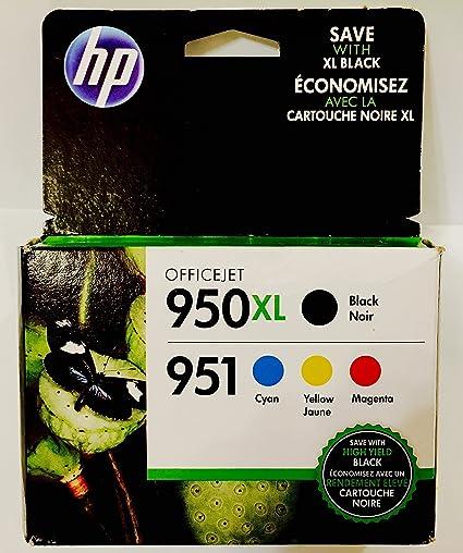 HP 950 X L negro, 951 Tri-color 4-Pack, Exp 2017: Amazon.es: Oficina y papelería
