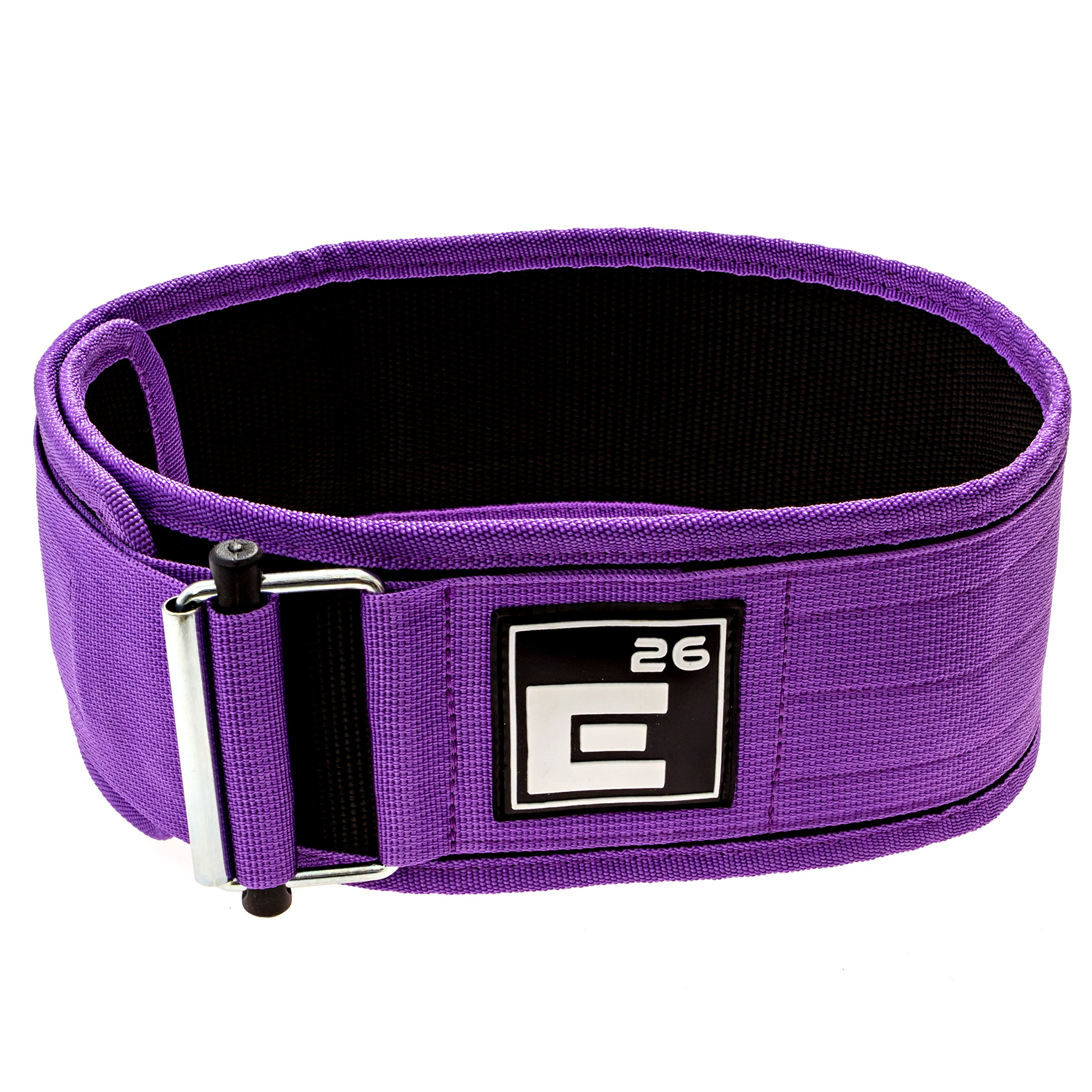 Element 26 Self-Locking Weight Lifting Belt | Premium Weightlifting Belt for Serious Crossfit, Weight Lifting, and Olympic Lifting Athletes | (Medium, Purple)