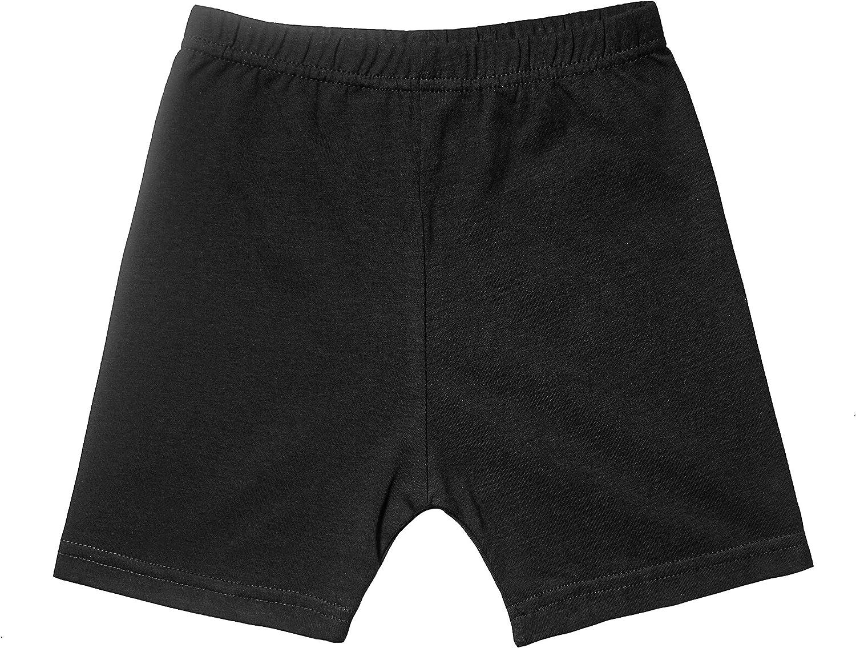 FLORNO Baby and Toddler Girls Dance Shorts Girls Bike Short and Safety Under Dress Shorts Underskirt Shorts 3-Pack