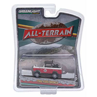 New 1:64 ALL-TERRAIN SERIES 2 - RED WHITE 1966 FORD BRONCO