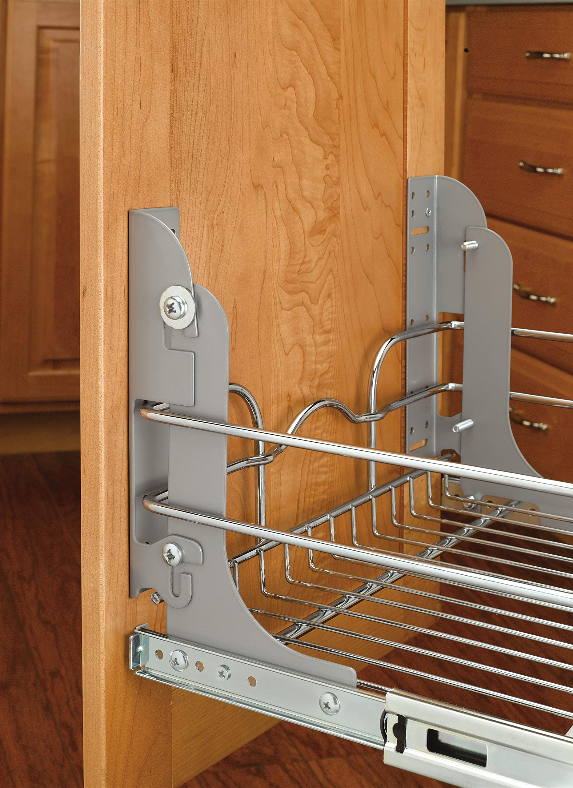 Rev-A-Shelf - 5WB1-1222-CR - 11 3/8 in. W x 22 in. D Base Cabinet Pull-Out Chrome Wire Basket by Rev-A-Shelf (Image #3)