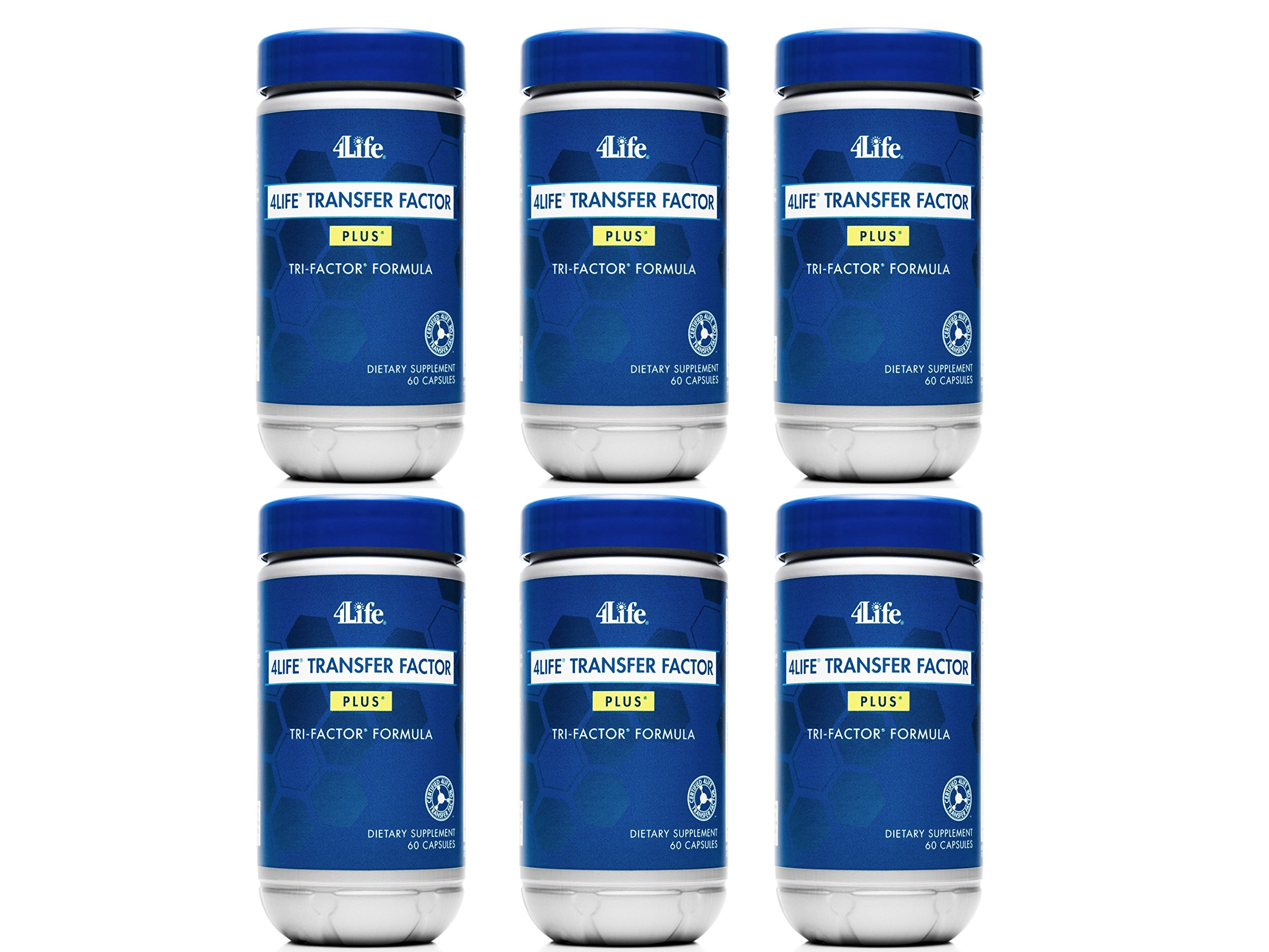 Transfer Factor Tri-Factor Plus by 4Life / 6 Bottles