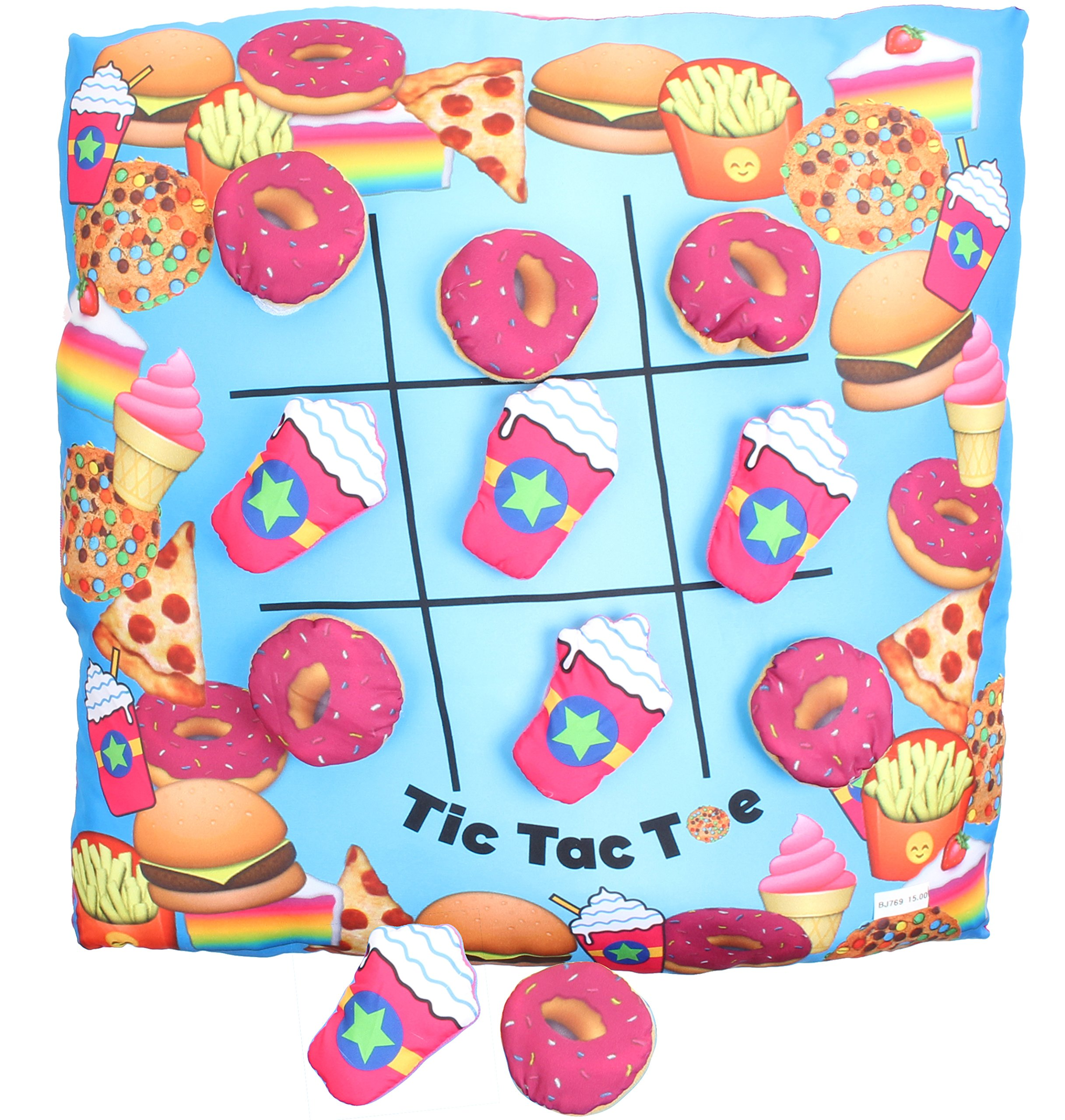 Tic Tac Toe Game Pillow the Velcro Donuts & Frap' Make for Hours of Fun!