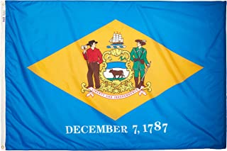 product image for Annin Flagmakers Model 140870 Delaware State Flag 4x6 ft. Nylon SolarGuard Nyl-Glo 100% Made in USA to Official State Design Specifications.