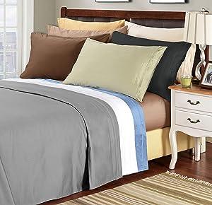 Superior 100% Egyptian Cotton 1500 Thread Count Sheet Set, King, Ivory