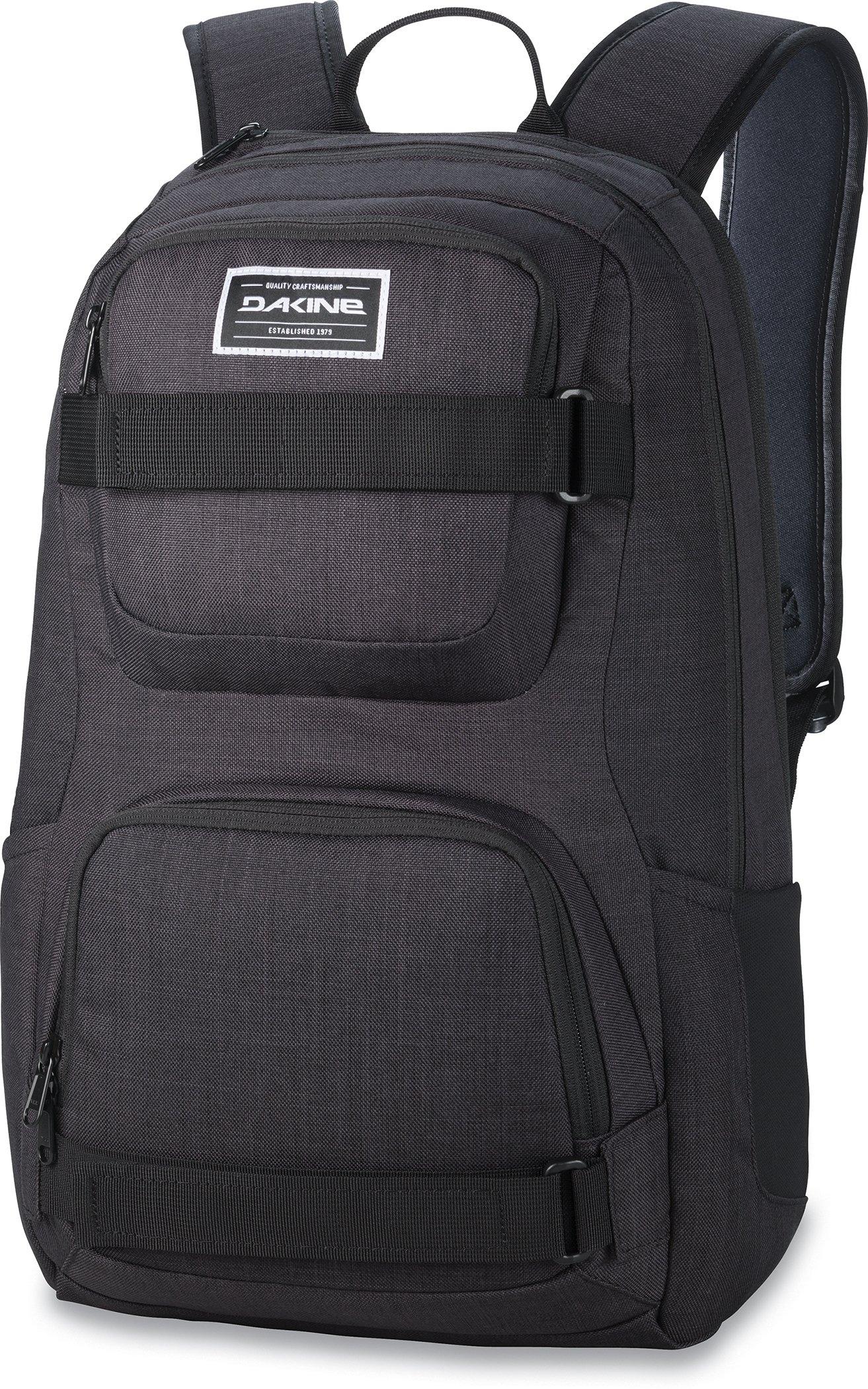 Dakine - Duel 26L Backpack - Padded Laptop & iPad Sleeve - Insulated Cooler Pocket - Mesh Side Pockets - 19'' x 12'' x 9'' (Black)