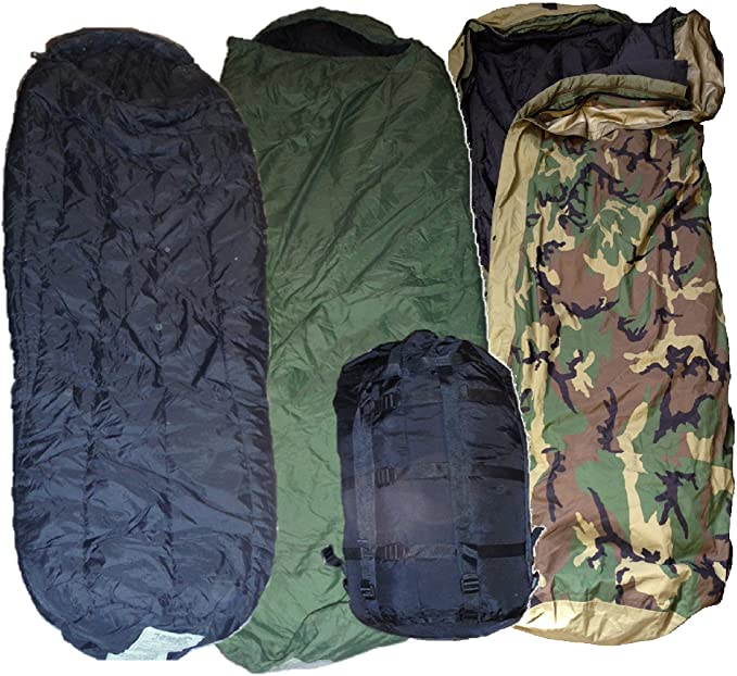 MODULAR SYSTEM INTERMEDIATE COLD MSS BLACK SLEEPING BAG US MILITARY ISSUE EXC