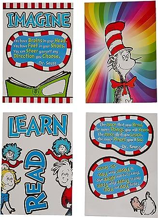 Seuss Bulletin Board set ABC come learn with me classroom decor teacher 1 Dr