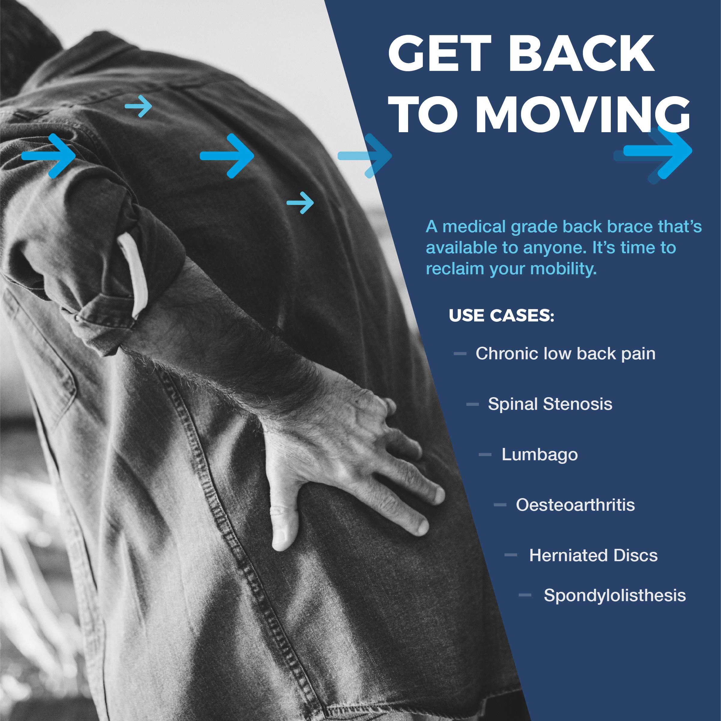 VertaLoc Flex FIT Medical Grade Back Brace and Support for Lower Back Pain - Extra Large by VERTALOC, INC. (Image #3)