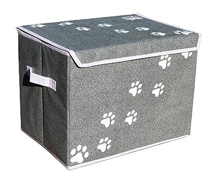 Bon Feline Ruff Large Dog Toys Storage Box 16u0026quot; X 12u0026quot; Pet Toy Storage  Basket