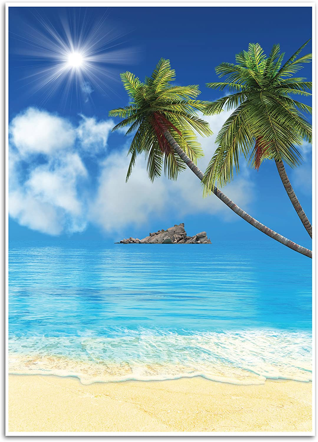 Amazon Com Tropical Beach Background Photography Backdrop Great For Studio Booth Party Photo Wedding Business Use 4 9 X 7 2 Feet Camera Photo