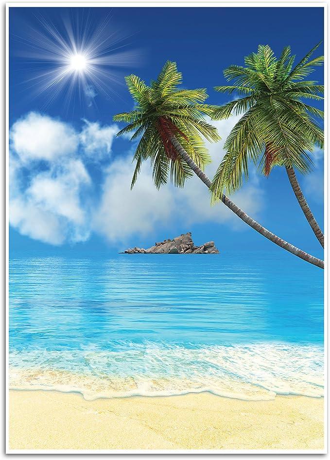 Tropischer Strand Hintergrund Fotohintergrund Für Kamera